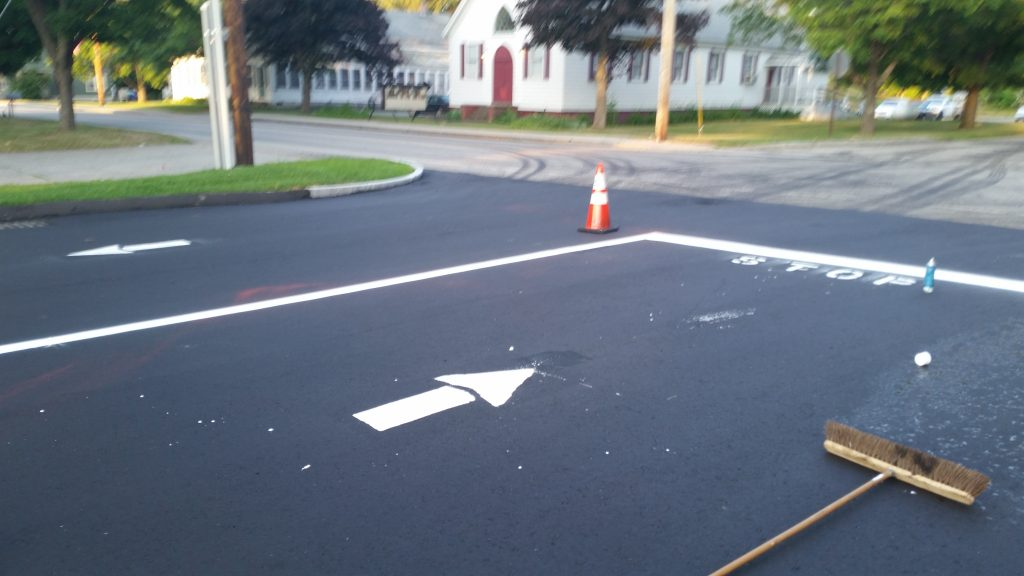 Paving and marking for Dollar General in Limerick, ME.